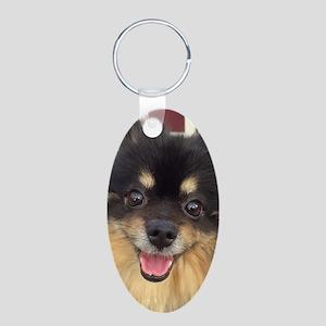 Happy Guida Aluminum Oval Keychain