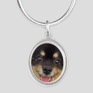 Happy Guida Silver Oval Necklace