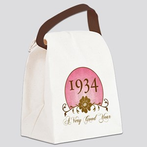 1934 Birthday For Her Canvas Lunch Bag