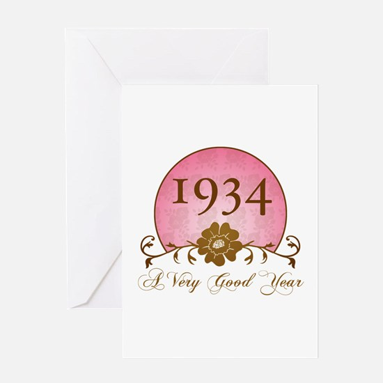 Birth year greeting cards cafepress 1934 birthday for her greeting card bookmarktalkfo Gallery