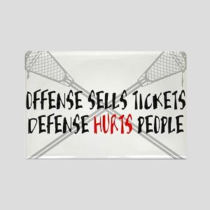 Lacrosse Defense Hurts Rectangle Magnet