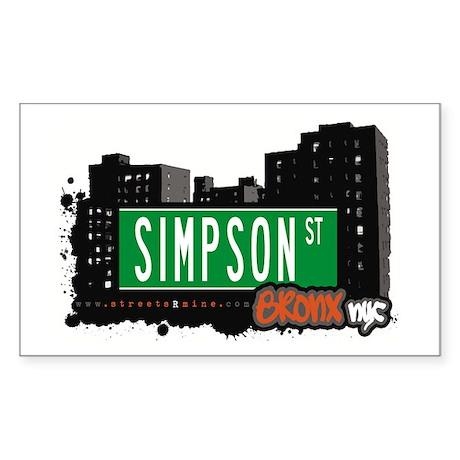 Simpson St, Bronx, NYC Rectangle Sticker