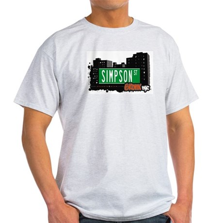 Simpson St, Bronx, NYC Light T-Shirt