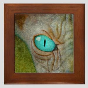 Sphynx Stare Framed Tile