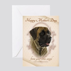Funny Mastiff Mothers Day Cards