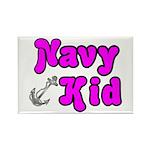 Navy Kid (pink) Rectangle Magnet (100 pack)