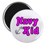 Navy Kid (pink) Magnet