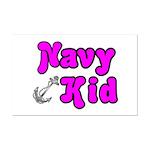Navy Kid (pink)  Mini Poster Print