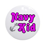 Navy Kid (pink) Ornament (Round)