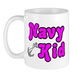 Navy Kid (pink) Mug