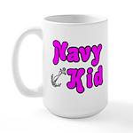 Navy Kid (pink) Large Mug