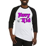 Navy Kid (pink) Baseball Jersey