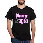 Navy Kid (pink) Dark T-Shirt