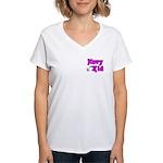 Navy Kid (pink) Women's V-Neck T-Shirt