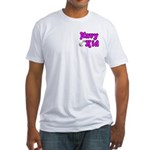 Navy Kid (pink) Fitted T-Shirt