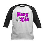 Navy Kid (pink) Kids Baseball Jersey