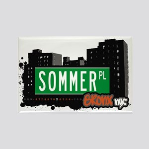 Sommer Pl, Bronx, NYC Rectangle Magnet