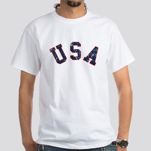 Vintage Team USA White T-Shirt