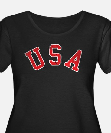 Vintage Team USA Plus Size T-Shirt