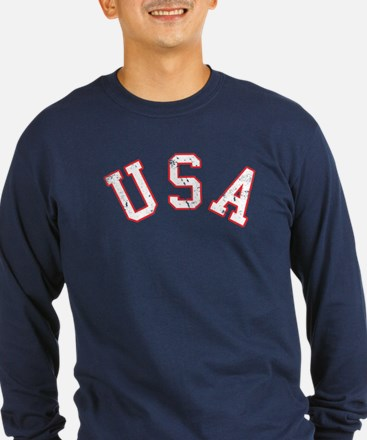 Vintage Team USA Long Sleeve T-Shirt