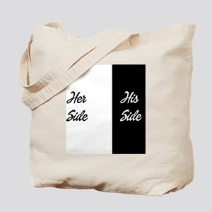Her side/ his side Tote Bag