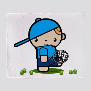 Tennis Boy Throw Blanket