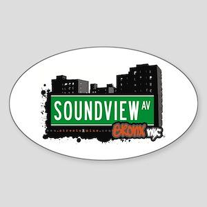Soundview Av, Bronx, NYC Oval Sticker