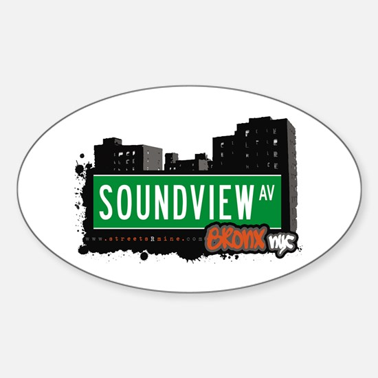 Soundview Av, Bronx, NYC Oval Decal
