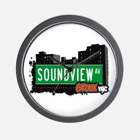 Soundview Av, Bronx, NYC  Wall Clock