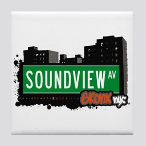 Soundview Av, Bronx, NYC  Tile Coaster