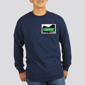 Soundview Av, Bronx, NYC  Long Sleeve Dark T-Shirt