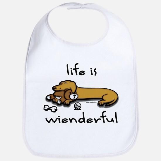 Life Is Wienderful Bib