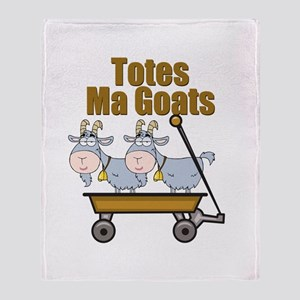 Totes Ma Goats Throw Blanket