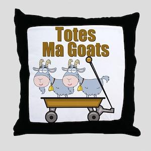 Totes Ma Goats Throw Pillow