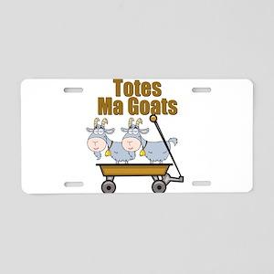 Totes Ma Goats Aluminum License Plate
