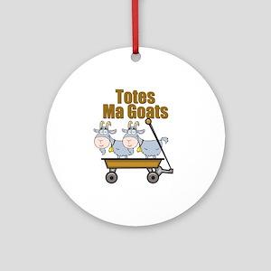 Totes Ma Goats Ornament (Round)