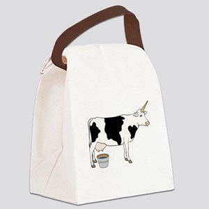 Magical Unicorn Dairy Milk Cow Canvas Lunch Bag