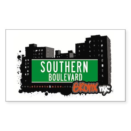 Southern Blvd, Bronx, NYC Rectangle Sticker