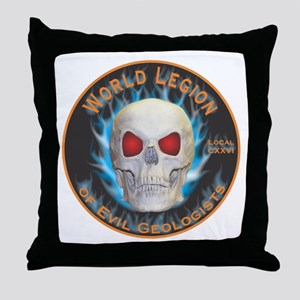 Legion of Evil Geologists Throw Pillow