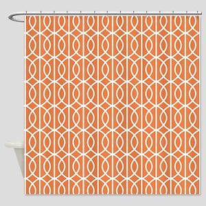 Celosia Orange Modern Pattern Shower Curtain