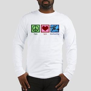 Peace Love Snowboarding Long Sleeve T-Shirt