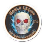 Legion of Evil Lawyers Round Car Magnet