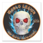 Legion of Evil Lawyers Square Car Magnet 3