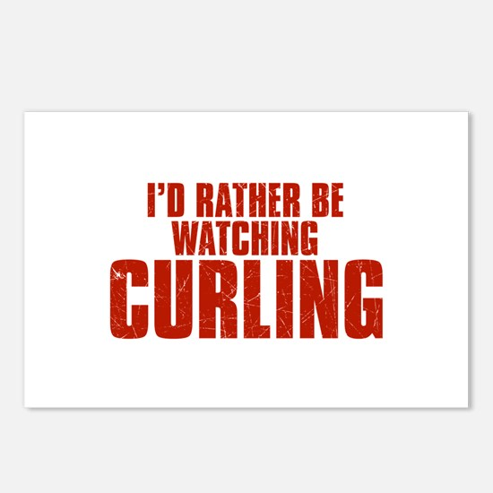 I'd Rather Be Watching Curling Postcards (Package