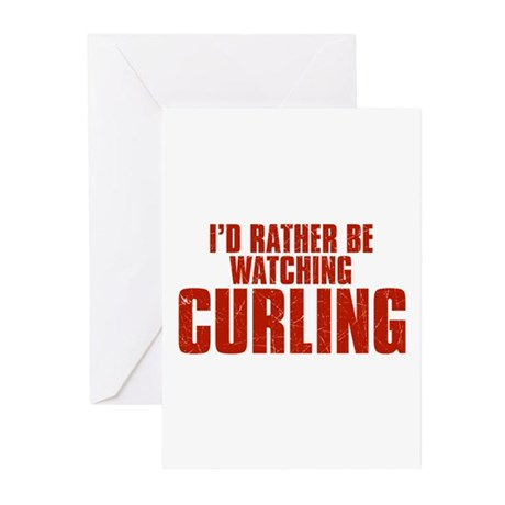 I'd Rather Be Watching Curling Greeting Cards (20