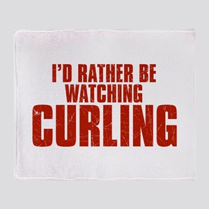 I'd Rather Be Watching Curling Stadium Blanket