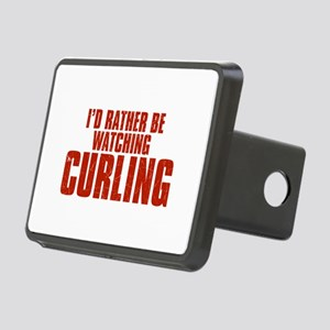 I'd Rather Be Watching Curling Rectangular Hitch C