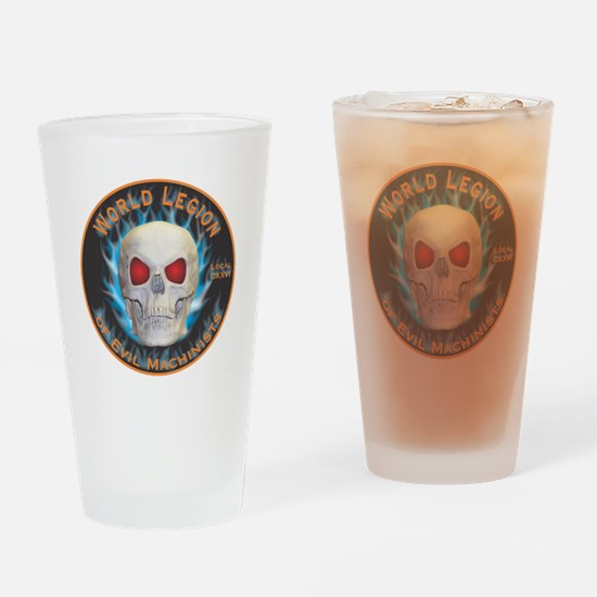 Legion of Evil Machinists Drinking Glass