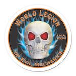 Legion of Evil Mechanics Round Car Magnet
