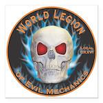 Legion of Evil Mechanics Square Car Magnet 3